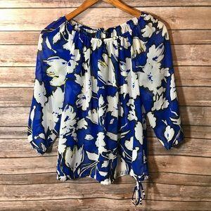 Daisy Fuentes floral off-the-shoulder blouse